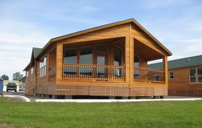 Multi Section Log Home Factory Direct Homes