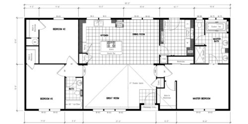 Manufactured Home: Platinum Series floorplan: Model Number GSP 602F