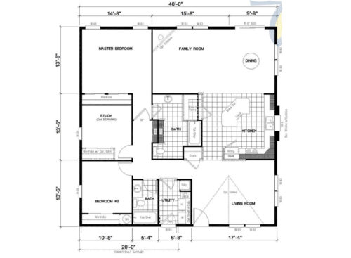 Manufactured Home: Gold Series floorplan: Model Number GS 401K