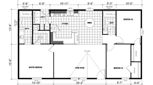 Manufactured Home: Gold Series floorplan: Model Number GS 481F