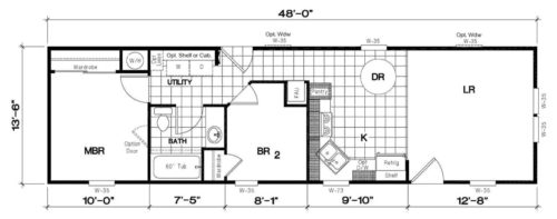 Manufactured Home: Gold Series floorplan: Model Number GS 481M