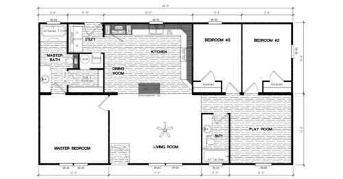 Manufactured Home: Inspiration Series floorplan: Model Number INS 481F